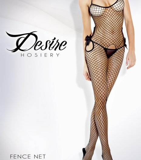 Cutout Fishnet Bodystocking w/ Bow Accents - 2021