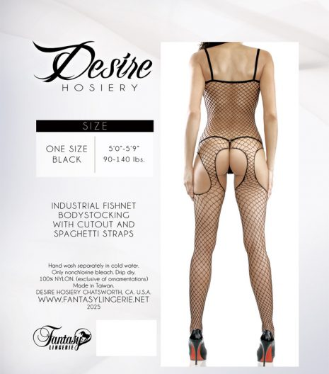 Fishnet Cutout Spaghetti Strap Bodystocking - 2025