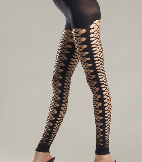Kaleidoscope Net Footless Tights BW621