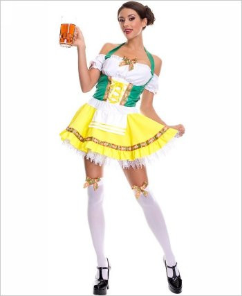 Oktoberfest Beer Girl Sexy Adult Costume