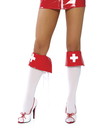 Nurse Costume Boot Cuffs