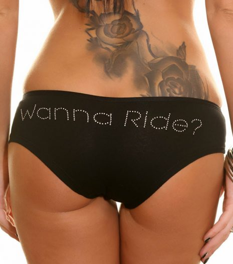 Hustler - Bling Booty Short - Wanna Ride?