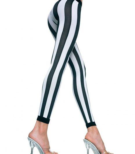 Opaque Vertical Stripes Leggings