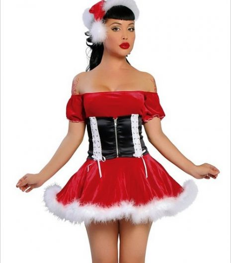 Santas Helper Two Piece Sexy Adult Costume