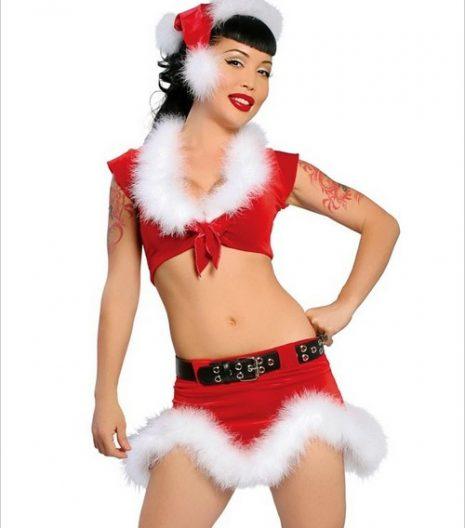 Hot Santa Three Piece Sexy Adult Costume