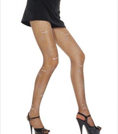Spider web printed pantyhose.