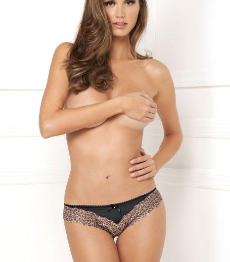 Crotchless Open Leopard Lace Panty 1104