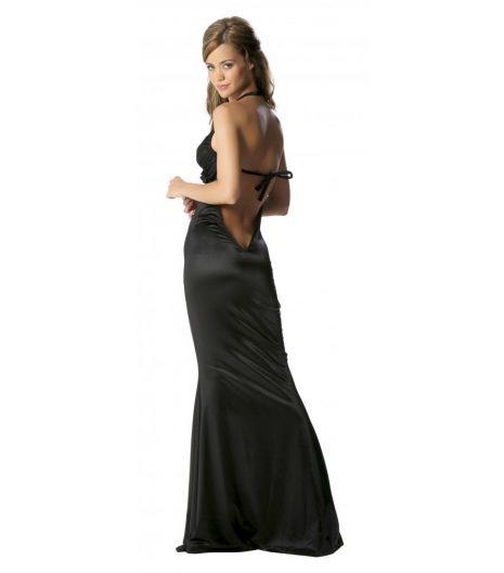 Roma 1pc Halter Mermaid Gown - Black