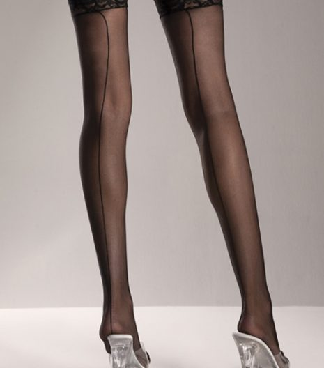 Fishnet Thigh Highs with Thin Scalloped Elastic Top One Size and Queen