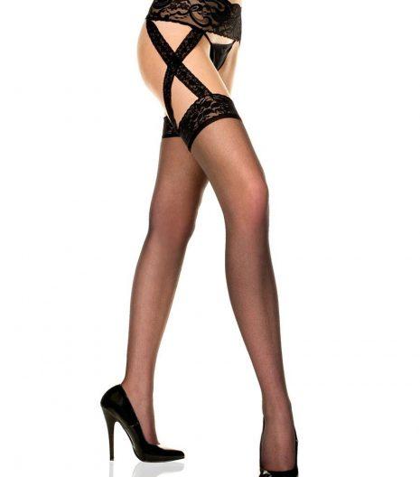 Sheer Garter Belt Stockings