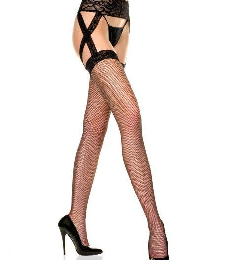 Plus Size Fishnet Garter Belt Stockings