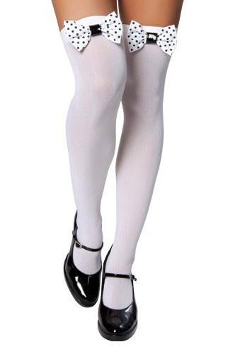 Thigh High Stocking w/ Polka Dot Bows