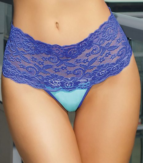 Highwaisted Microfiber Thong One Size and Queen