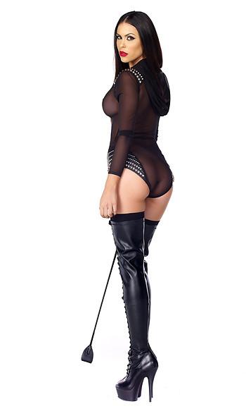 Discipline Studded Mesh Bodysuit