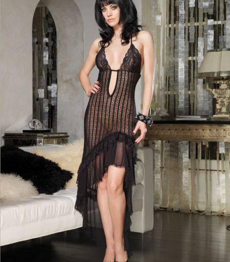 Crocheted Lace Long Dress