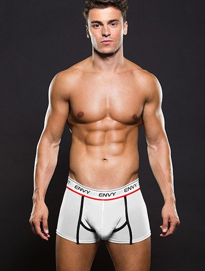 Envy Logo Elastic Low Rise Mesh Trunk