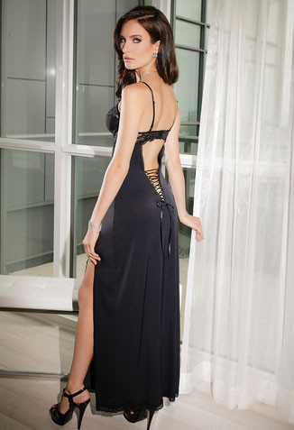 Microfiber Gown With Soft Underwire Cups