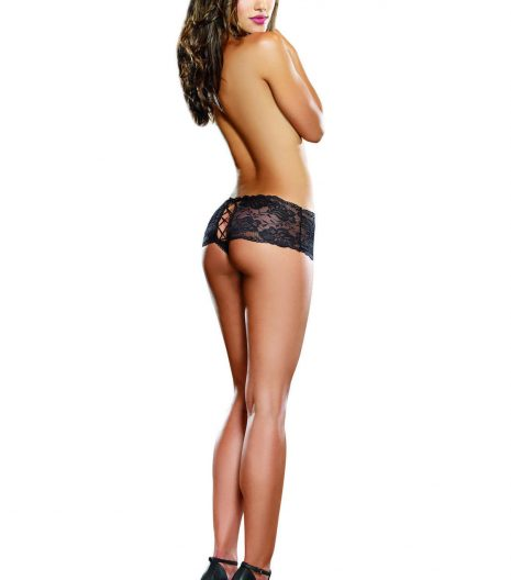 Stretch lace galloon boyshort