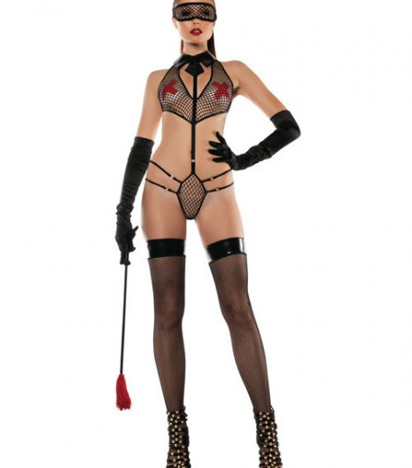 Roleplay Collared Mesh PlaySuit w/Mask