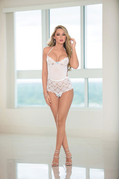 Bridal Halter Tie w/Open Crotch Teddy